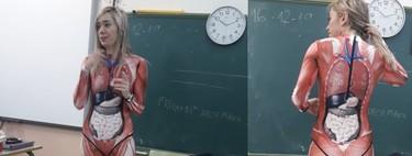 """Un profesora de Primaria """"se deja la piel"""" para enseñar a sus alumnos el interior del cuerpo humano de manera muy explícita"""