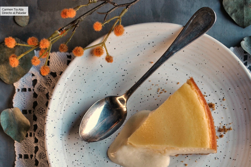 Tarta de queso estilo Coulant con y sin Thermomix (la de Clara de Masterchef)