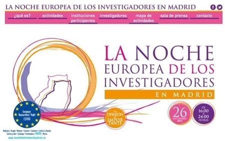 El 26 de septiembre de 2014 se celebra la noche europea de los investigadores también en Madrid
