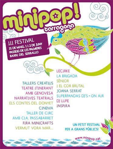 Llega el III Festival Minipop de Tarragona