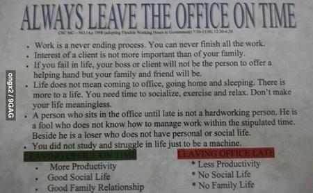 Que una empresa filipina obligue a sus empleados a irse a su hora invita a la reflexión