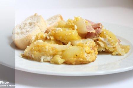 Patatas y lacón. Receta