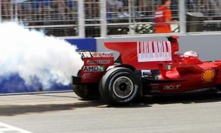 El motor de Kimi sufrió el mismo problema que el de Massa