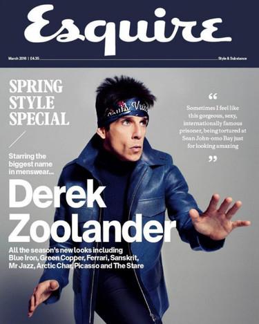 ¡Otra portada acero azul para Ben Stiller, esta vez en Esquire!