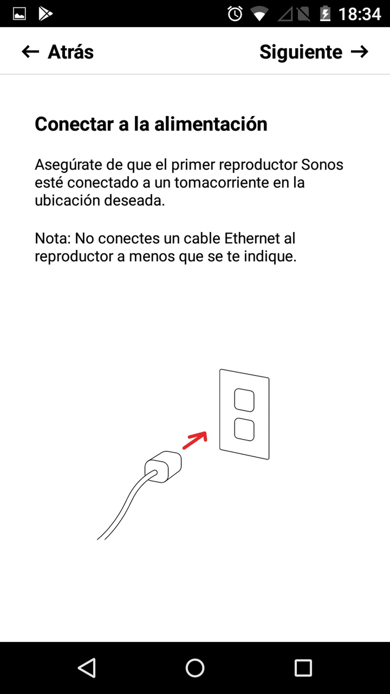Sonos Beam instalacion