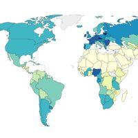 Cuánto alcohol toma cada persona de cada país al año y otros 12 curiosos mapas con datos de todo el mundo