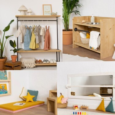 21 muebles de estilo Montessori para facilitar el desarrollo y la autonomía de los niños en el hogar