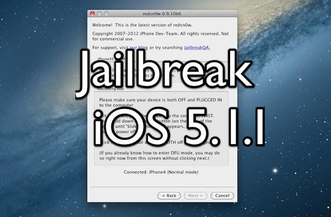 Jailbreak tethered 5.1.1