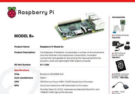 Modelo B+ de la Raspberry Pi