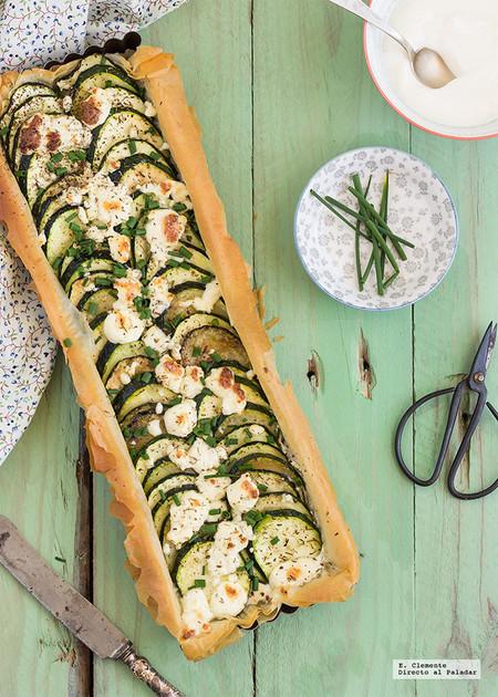 Tarta Salada De Yogur Griego Calabacin Y Queso Feta