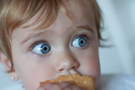 La foto de tu bebé: Paule y su galleta