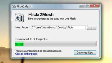 Flickr2Mesh, tus fotos de Flickr en Live Mesh