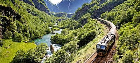 Flaamsbana, el tren de los fiordos noruegos