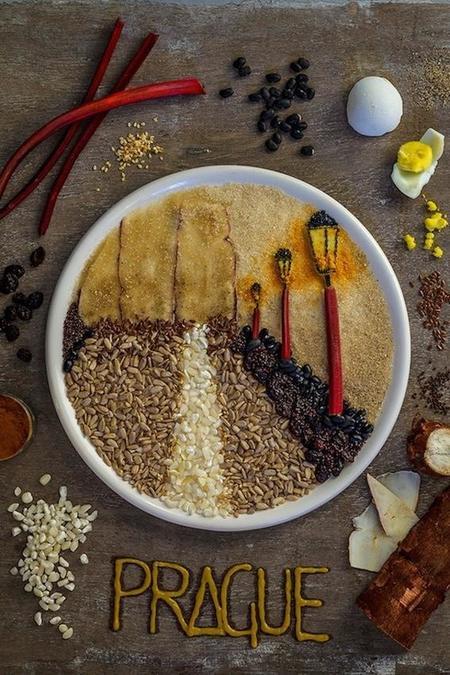 Arte fotográfico culinario para la cocina europea
