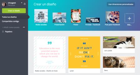 Canva, el editor gráfico online, lanza hoy su versión en español