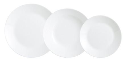 El que no estrena vajilla es porque no quiere:  vajilla de 18 piezas Arcopal Zelie en color blanco por 8,99 euros en Amazon