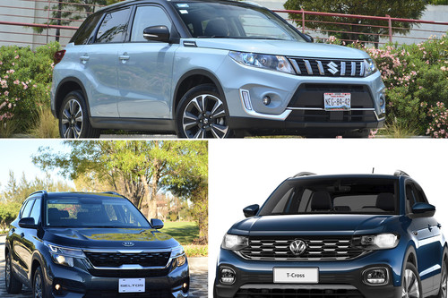 KIA Seltos vs. Suzuki Vitara vs. Volkswagen T-Cross: ¿cuál B-SUV conviene comprar en México?