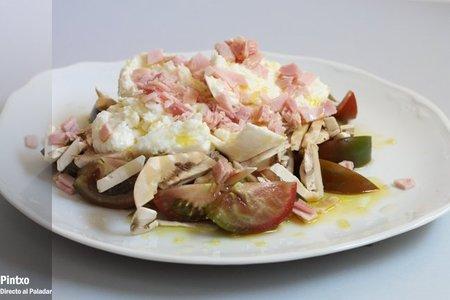 Recetas ligeras: ensalada de jamón