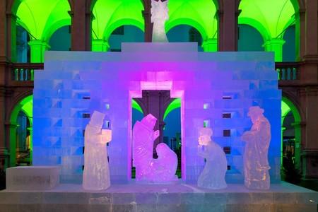 Arte efímero: el belén de hielo de Graz, Austria
