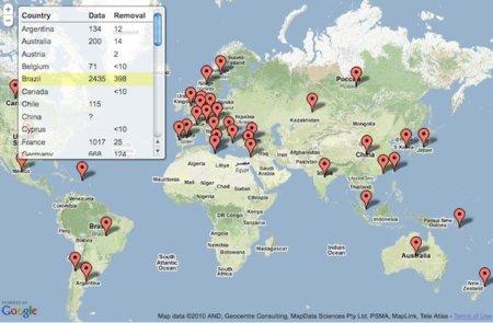 Google traza el mapa de la censura gubernamental