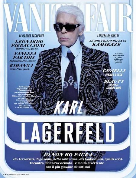 Karl Lagerfeld Covers Vanity Fair Italia December 2015