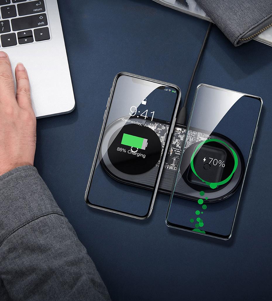 Baseus 15W Dual Wireless Charger
