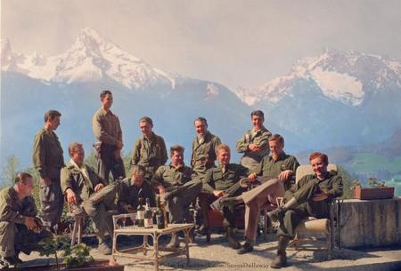 Dick Winters And His Easy Company (hbo's Band Of Brothers) Lounging At Eagle's Nest, Hitler's (former) Residence