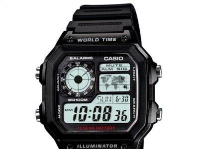Reloj digital Casio AE-1200WH-1AVEF por 21 euros