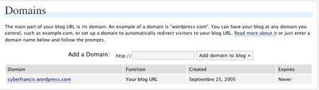 WordPress.com permite tener tu propio dominio