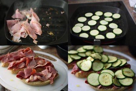Hacer una tosta de jamón asado