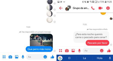 Facebook Messenger Añade Las Respuestas A Mensajes Así
