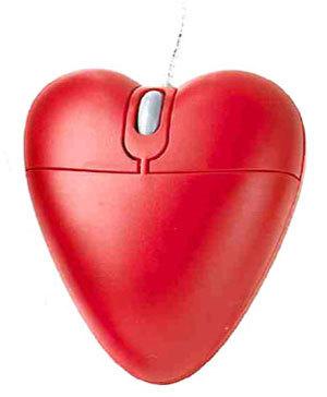 Ratón en forma de corazón