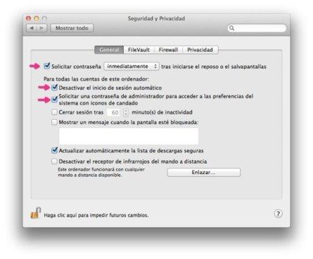 Seguridad y Privacidad, OS X Lion