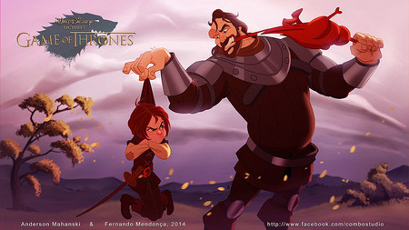 Game Of Thrones Disney Style Illustration Combo Estudio 8 5aafaa95cd138 880