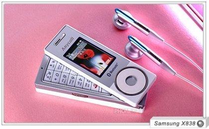 Samsung X838, móvil con ruleta estilo iPod