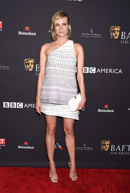 tea party bafta alfombra roja Diane Kruger