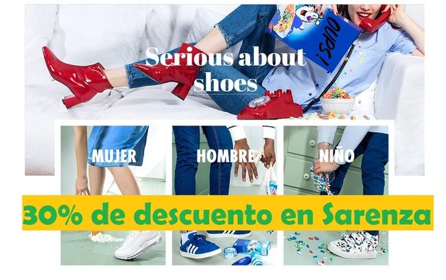 Sarenza nos ofrece un cupón de descuento del 30% en casi toda su web para ahorrar en calzado y bolsos