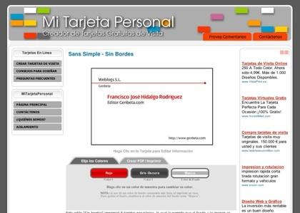 Mi tarjeta personal, sencillo editor online de tarjetas