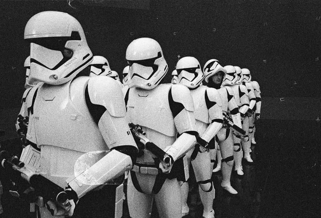Stormtroopers en Star Wars 8