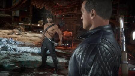 Mortal Kombat 11 Ultimate nos deja con la pelea más esperada: Rambo y Terminator se parten la cara en un nuevo gameplay