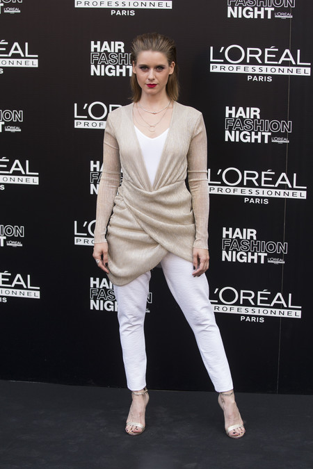 hair fashion night loreal paris madrid celebrities famosas Manuela Velles