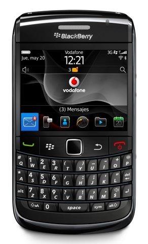 Vodafone lanza en España el BlackBerry Bold 9780 para autónomos y particulares. Modalidades y precios.