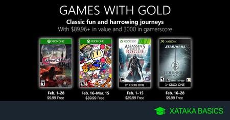 Juegos de Xbox Gold gratis para Xbox One y 360 de febrero 2019