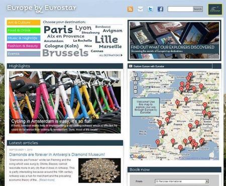 Europe by Eurostar, un sitio para descubrir las ciudades a las que llega el tren