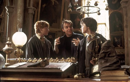 Chris Columbus dirigiendo una película de Harry Potter