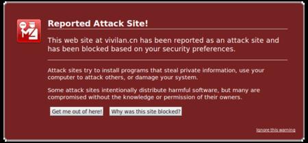 Aviso de malware en Firefox bajo Wine