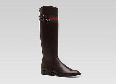 Botas planas Gucci Heritage, unas botas amazona con polaina extraíble