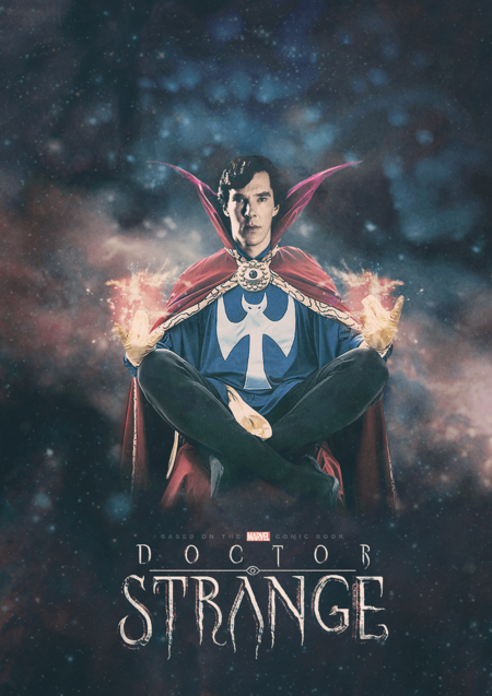 Benedict Cumberbatch As Doctor Strange By Pappersflygplan D7le569
