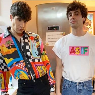 Los Javis lanzan una marca de ropa de inspiración noventera con los diseños de Amanda Portillo