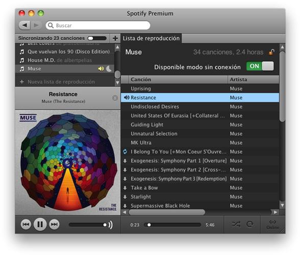 Spotify en offline